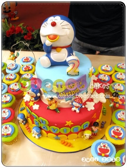 Olanos: Doraemon Birthday Cake and Cupcake for Xavier