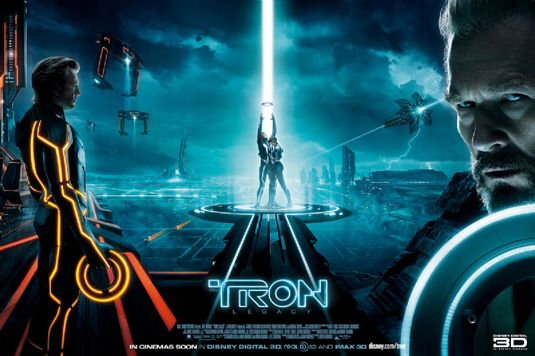 Tron+Legacy+Quad+Poster Movie Review!  Tron: Legacy #3 at the Box Office