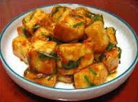 Tofu Frito com Molho Apimentado