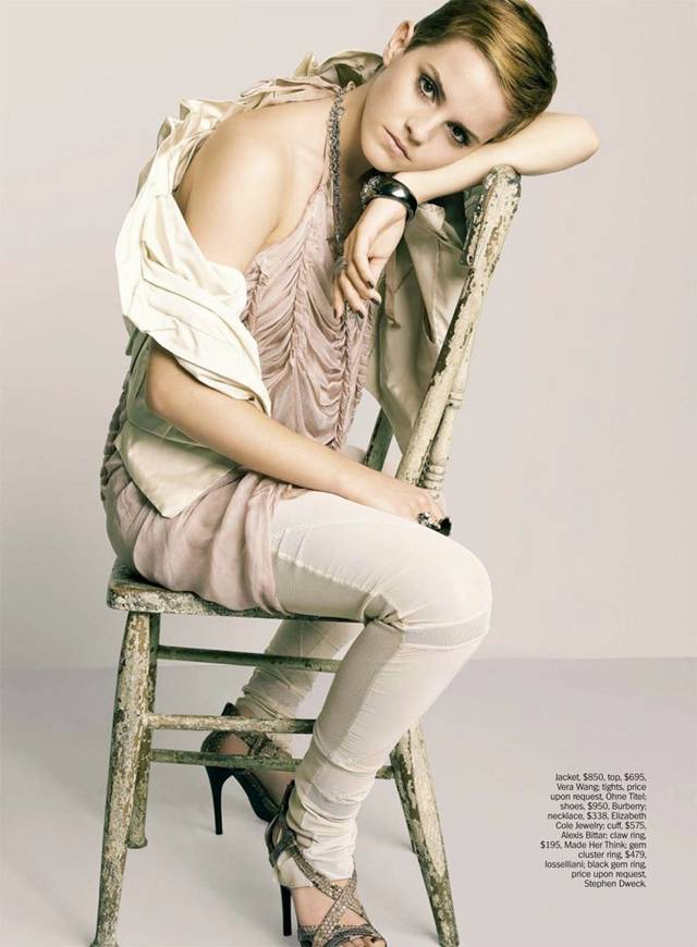 emma watson short hair photo shoot. Watch this short video of her