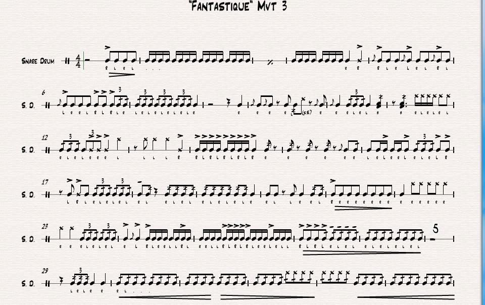 snare drum solo sheet music pdf