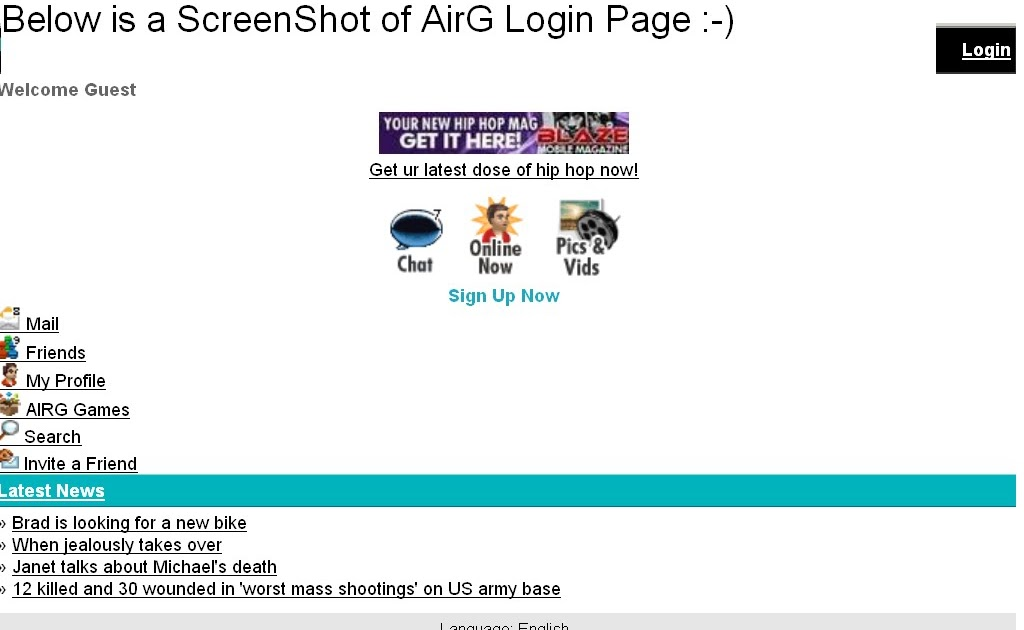 airg login and password