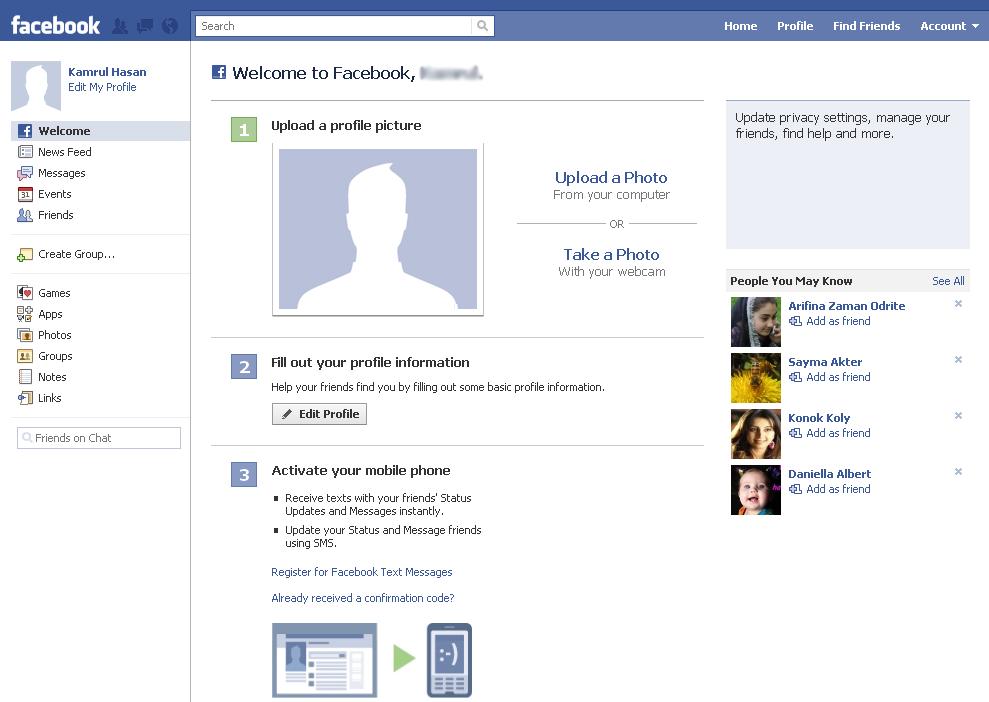 Blogging Methods Create An Account In Facebook