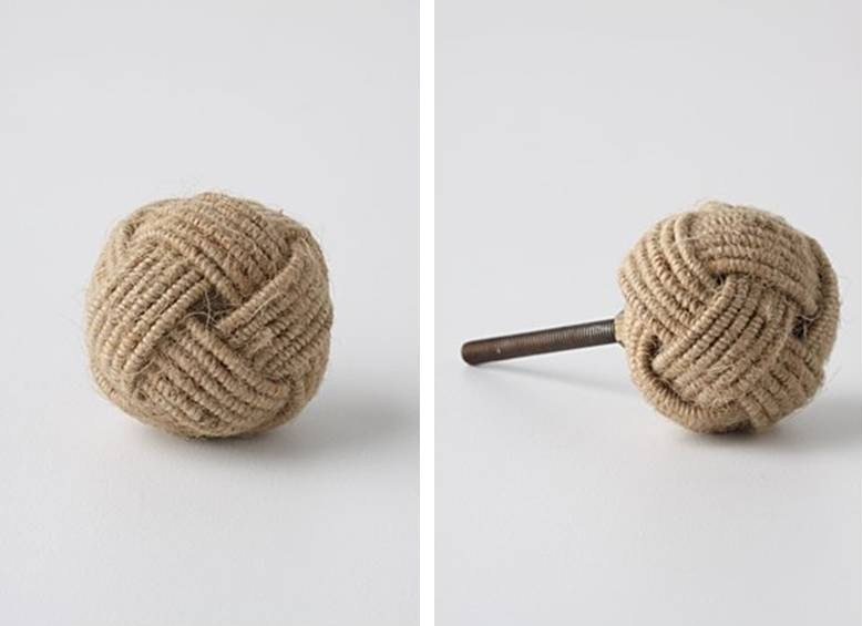 Coiled Rope Knob, $10.00 Each