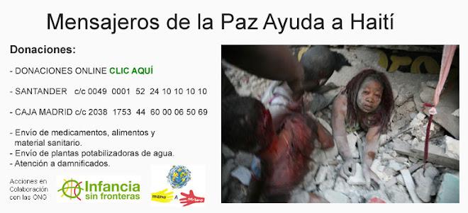 AYUDA A HAITI CON MENSAJEROS DE LA PAZ