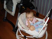 in her walker she gets around good