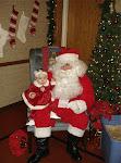 kynlee and santa 12-4-08