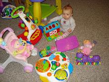 loves all her toys