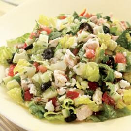 Thanksgiving Chopped Greek Salad with Chicken