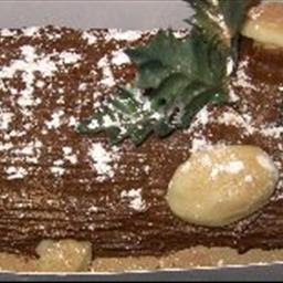 Buche De Noel (Christmas Log Cake) recipe