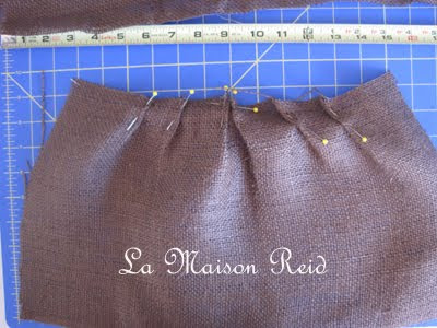 make pleats in burlap
