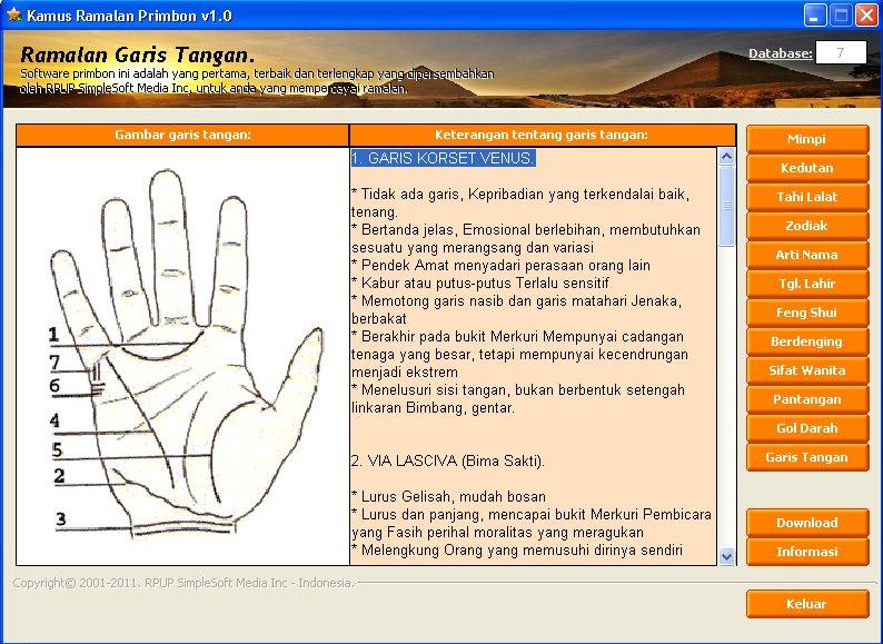 Free software download kamus ramalan primbon v10 kamus ramalan primbon v10 reheart Image collections