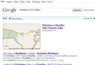 Wrong Birthplace of Buddha in Google map