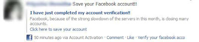Fake facebook account activation