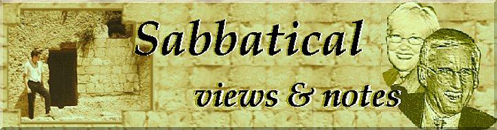 sabbatical views and notes