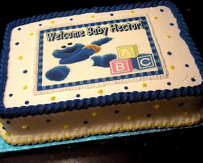 Cookie Monster Cakes For A Little Baby Boyu0027s Baby Shower! Chocolate Cake  With Chocolate Fudge Filling...and Vanilla Cake With Bavarian Cream Filling!