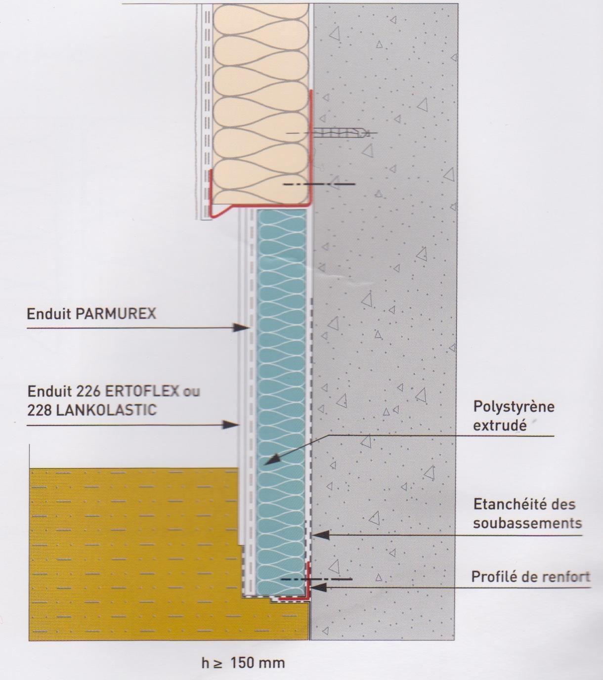 Isolation thermique par l 39 ext rieur cahier des charges for Enduit sur polystyrene extrude