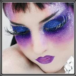 Inspiration Make Up: Purple & Blue Fairy Makeup Idea