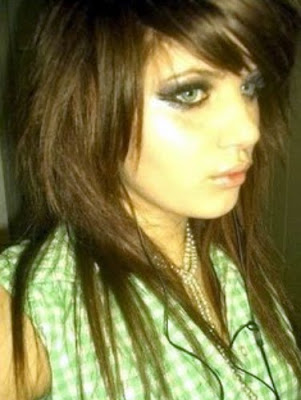 Emo girls hair!