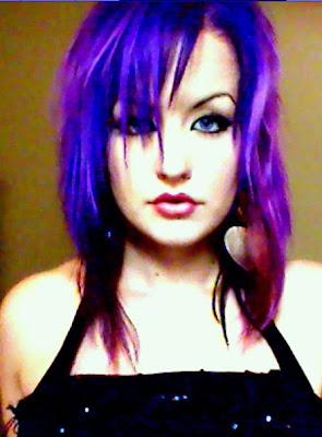 linda strawberry purple hair