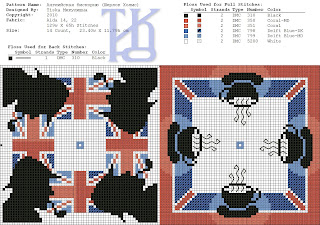 Британская бискорню от Татьяны (Хабаровск) - Britain biscornu from Tatiana (Khabarovsk) .