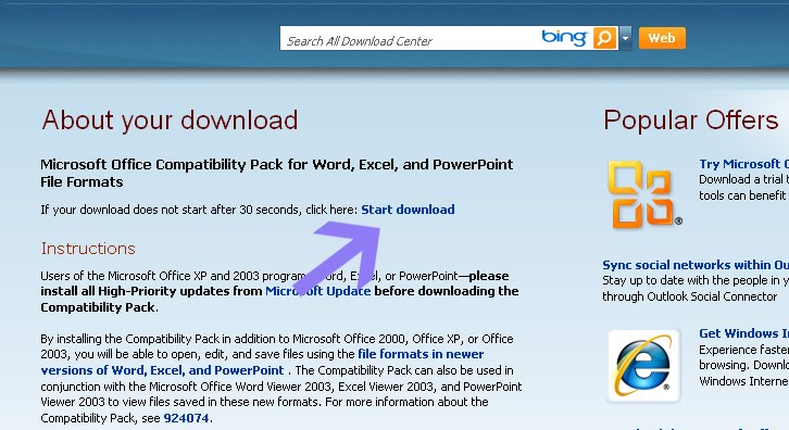 How to open microsoft office 2007 document using microsoft - Office compatibility pack for office 2007 ...