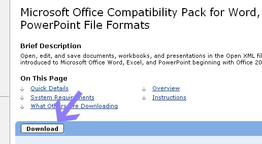 Microsoft Office Compatibility Pack for Word, Excel, and ...