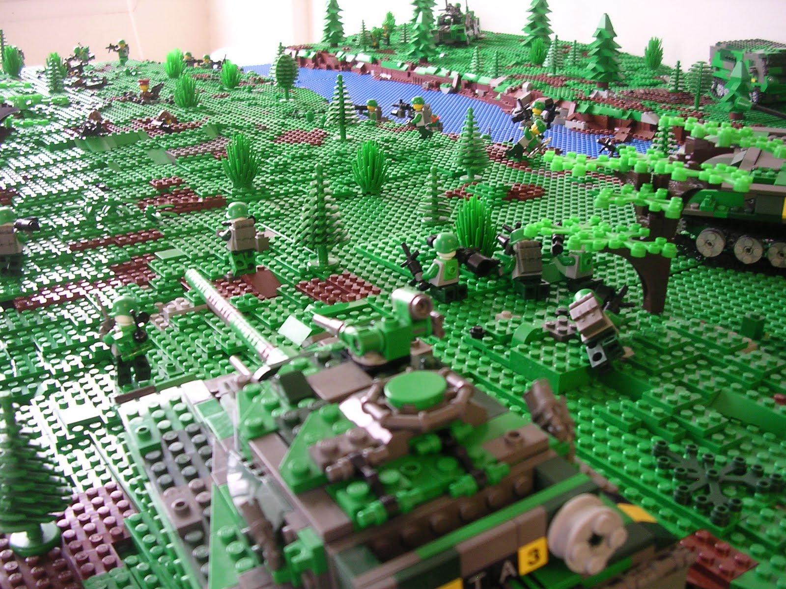 LEGO Military Models Modular Landscaping And BrickFair