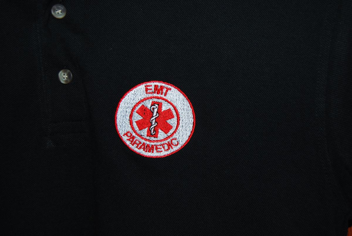 Paramedic Polo Tee Red Logo