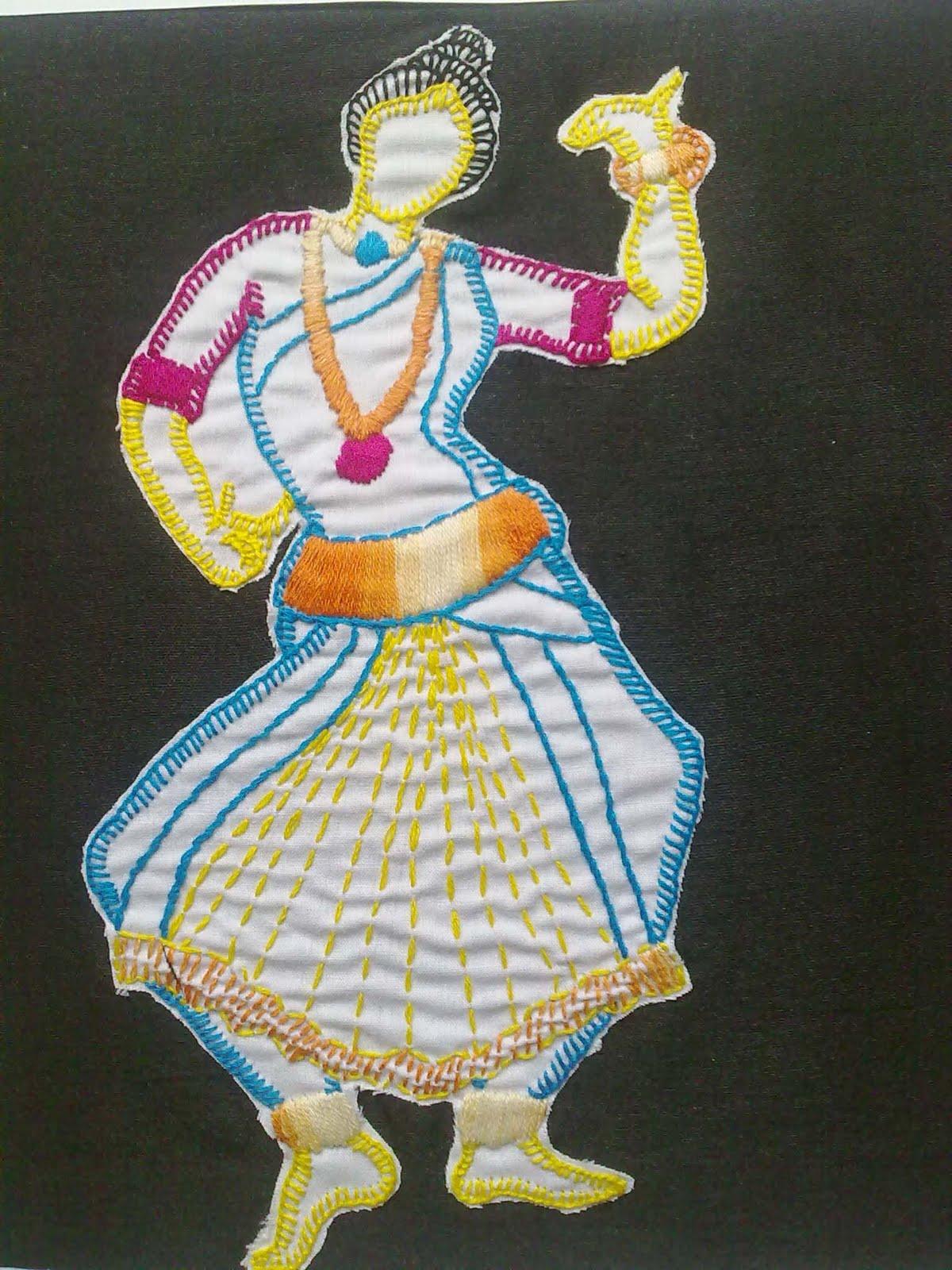 Contemporary fashion embroidery makaroka