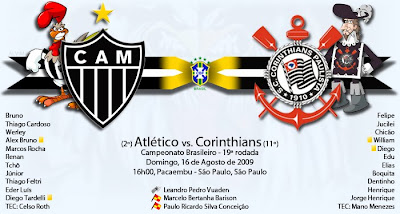 Sport Club Corinthians Paulista vs Clube Atlético Mineiro - 19ª Rodada.