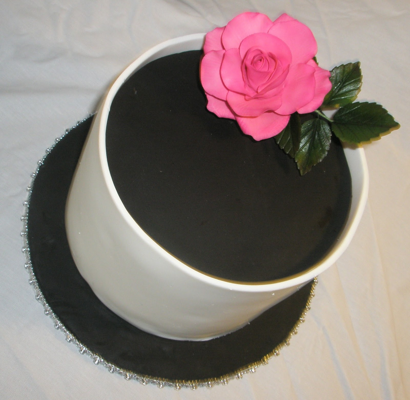 Cake Boss Black and White Wedding Cakes