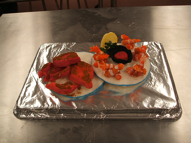 Salt Dough Seafood Show piece