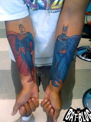 Loyal's BATMAN & SUPERMAN TATTOO ART Photo
