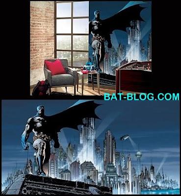 Bat blog batman toys and collectibles batman art room for Batman mural wallpaper