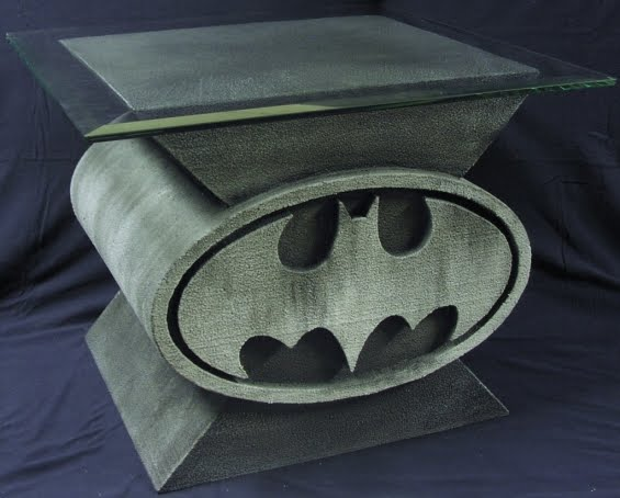 Custom Design Batman Bat Symbol Coffee Table