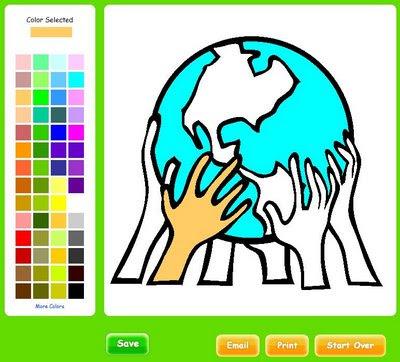 The Color: dibujos para colorear
