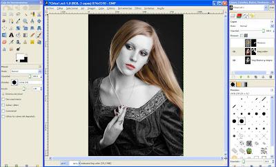 Tutorial GIMP - trabajo con máscaras