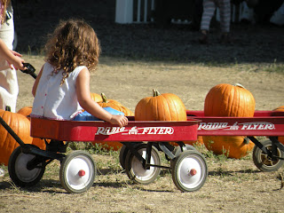 Kid in a wagon