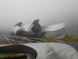 Millennium Park Amphitheater on a cloudy day