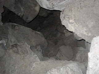 Lava Beds National Monument, narrow entrance to Big Painted Cave