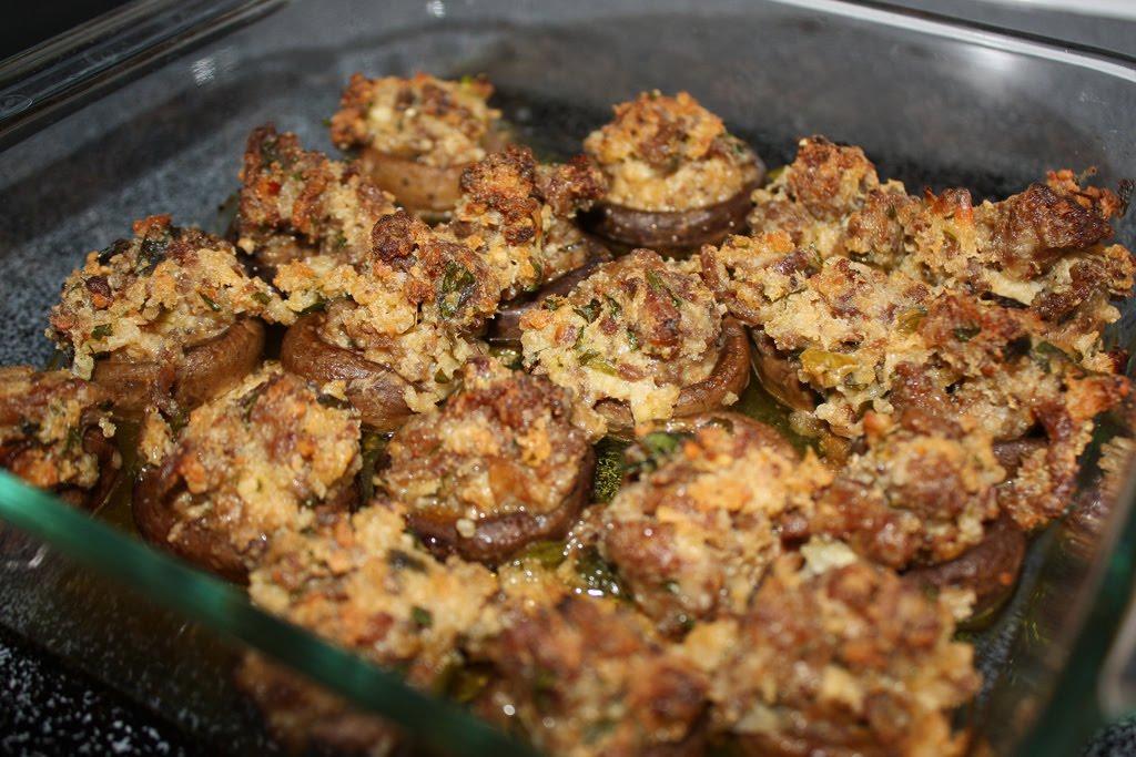From My Teeny-Tiny Kitchen: Sausage Stuffed Mushrooms
