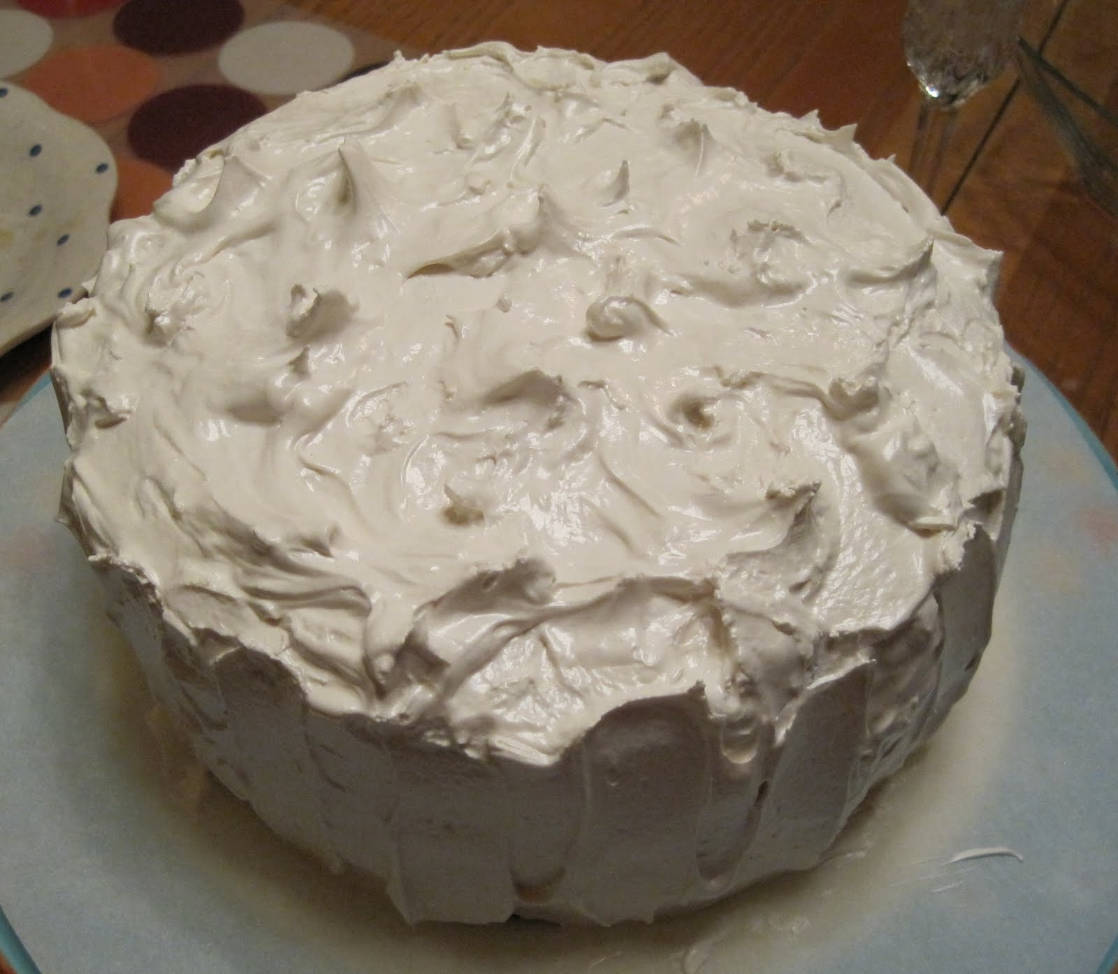 Gluten Free Kitchen: Chocolate Cake with Marshmallow Frosting