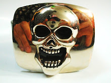 Hebilla Calavera Relieve