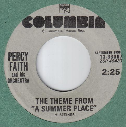 Percy Faith Theme From a Summer Place The Theme From a Summer Place