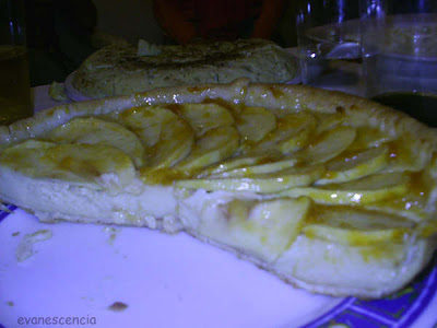 tarta manzana con crema pastelera