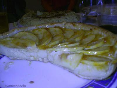 tarta manzana con crema pastelera