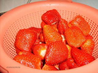fresas lavadas