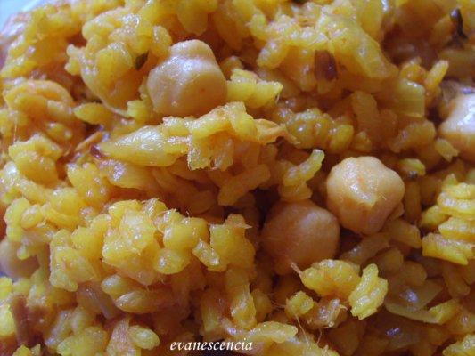 arroz garbanzos y atun