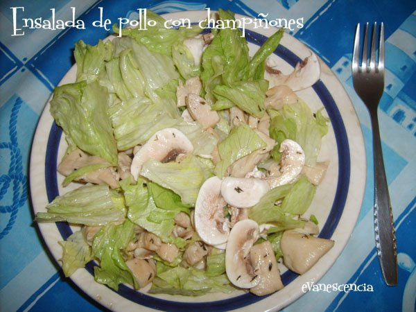 ensalada pollo championes